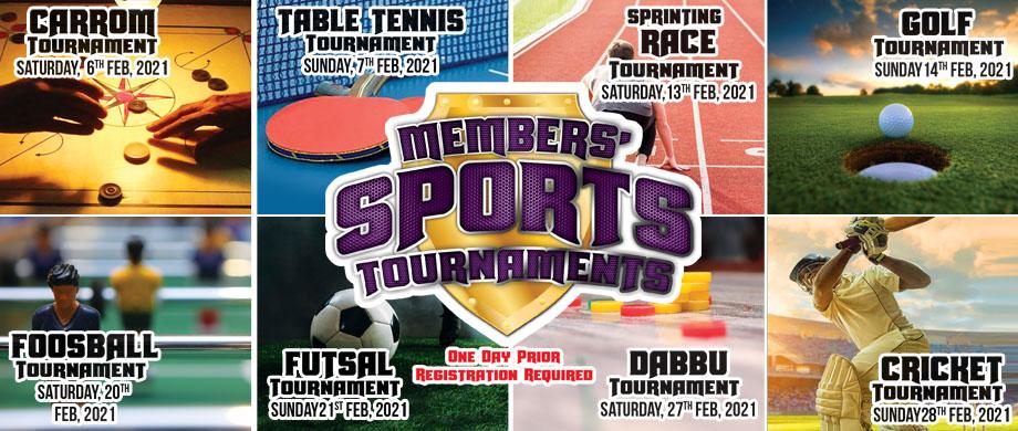 Members Sports Tournaments