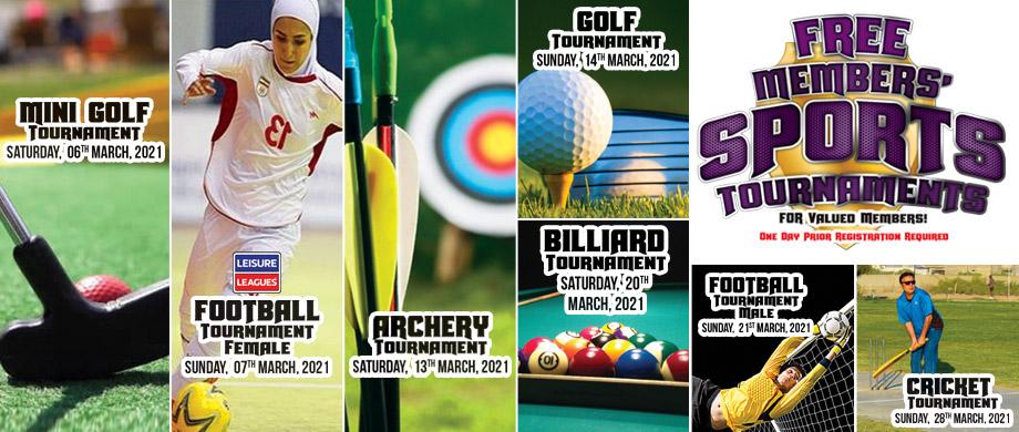 Free Members Sports Tournaments